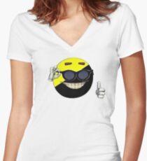 Ancap Shirt Women's Fitted V-Neck T-Shirt