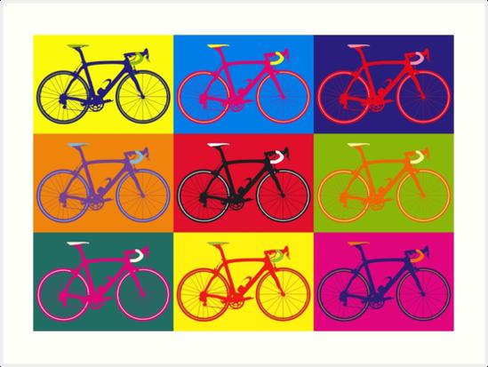 "Extrêmement Bike Andy Warhol Pop Art"" Art Prints by sher00 | Redbubble KK57"