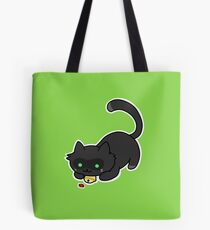 Ladybug and the cat Tote Bag