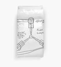 Flux Capacitor Drawing Duvet Cover