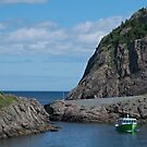 Boat Just Come Through the Gap at Quidi Vidi, NL, Canada by Gerda Grice