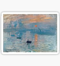 Claude Monet - Impression Sunrise 1872 Sticker