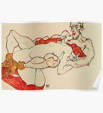 Egon Schiele - Lovers (1913)  Poster
