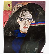 Egon Schiele - Mourning Woman (1912)  Poster