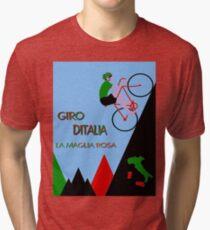 """GIRO D ITALIA BICYCLE"" Racing Advertising Print Tri-blend T-Shirt"