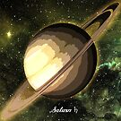 Planet Saturn in Space by Justin Beck