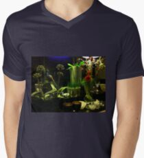 Green with a Touch of Red, White and Blue Mens V-Neck T-Shirt