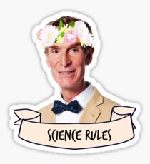 Bill Nye Science Rules Sticker