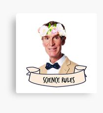 Bill Nye Science Rules Canvas Print