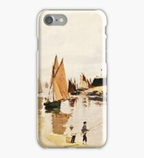 Claude Monet - Breakwater at Trouville, Low Tide (1870)  iPhone Case/Skin