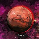 Planet Mars in Space by Justin Beck