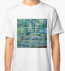 Claude Monet - Water Lilies and Japanese Bridge (1899)  Classic T-Shirt