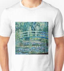 Claude Monet - Water Lilies and Japanese Bridge (1899)  T-Shirt
