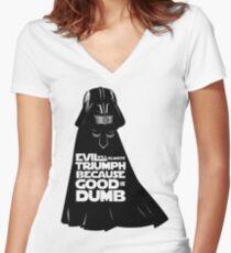 Dark Helmet - Fan art Women's Fitted V-Neck T-Shirt