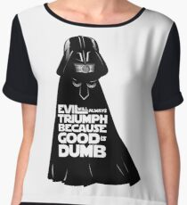 Dark Helmet - Fan art Chiffon Top