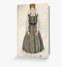 Egon Schiele - Portrait of Edith (the artists wife) (1915)  Greeting Card