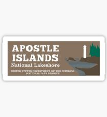 Apostle Islands National Lakeshore sign Sticker