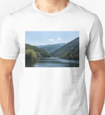 Gentle Breeze - Mountain Lake Ruffled by the Wind Unisex T-Shirt