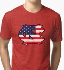 Go Heels, Go America Tri-blend T-Shirt
