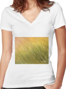 Blades of Grass Women's Fitted V-Neck T-Shirt