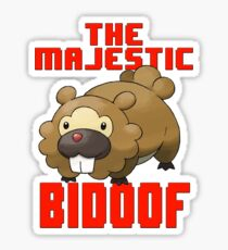 The Majestic Bidoof Sticker