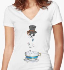 Ready for tea? Women's Fitted V-Neck T-Shirt