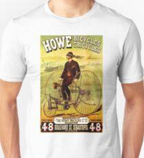 """HOWE BICYCLES"" Vintage (1878) Advertising Print Unisex T-Shirt"