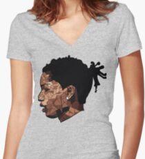 Asap Rocky Art Women's Fitted V-Neck T-Shirt