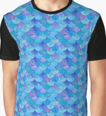 Mermaid Scales Blue Graphic T-Shirt