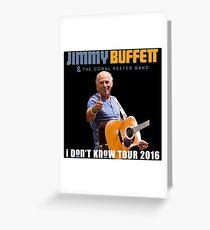 J. BUFFET LOGO 2016 TOUR RSBT Greeting Card