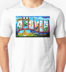GREETING FROM AUSTIN BY JEFF BREWSTER Unisex T-Shirt