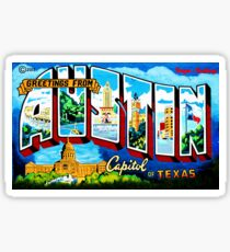 GREETING FROM AUSTIN BY JEFF BREWSTER Sticker