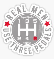 Real Men Use Three Pedals Manual Transmission Car Sticker