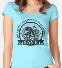Save the Pacific Northwest Tree Octopus Women's Fitted Scoop T-Shirt