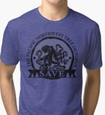 Save the Pacific Northwest Tree Octopus Tri-blend T-Shirt