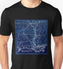 0308 Railroad Maps Map showing the route and connections of the Mississippi Valley Railroad of Louisiana E Baldwin chief Inverted T-Shirt