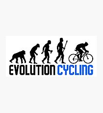 Evolution Cycling Photographic Print