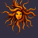 Sun Goddess . by Leah McNeir