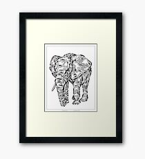 """Elephant Spirit"" version1 - surreal tribal totem animal Framed Print"