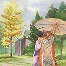 Little Shifu and Tiger by Krista Brennan