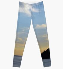 Sunset at the sea in Vernazza. Leggings