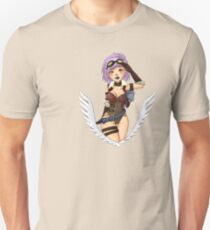 Aviatrice, steampunk girl Unisex T-Shirt