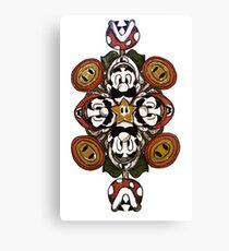 Super Mario Bros. Mandala Canvas Print