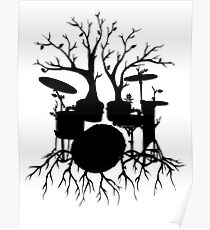 """Live the Beat to the Tempo of Creation"" ~ drum tree art, version2 Poster"