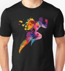 Watercolor running man Unisex T-Shirt