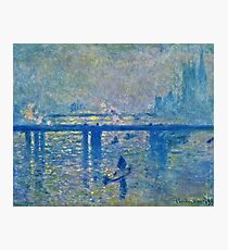 Claude Monet - Charing Cross Bridge Photographic Print