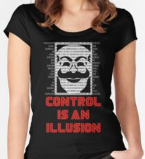 Control Is An Illusion Women's Fitted Scoop T-Shirt