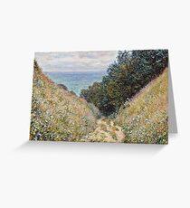 Claude Monet - Road at La Cavee, Pourville (1882)  Greeting Card