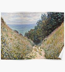 Claude Monet - Road at La Cavee, Pourville (1882)  Poster