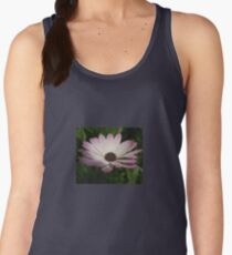 Side View of A Pink and White Osteospermum Women's Tank Top
